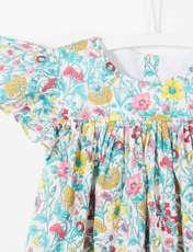 پیراهن نخی نوزادی دخترانه Layette - جاکادی - چند رنگ - 4