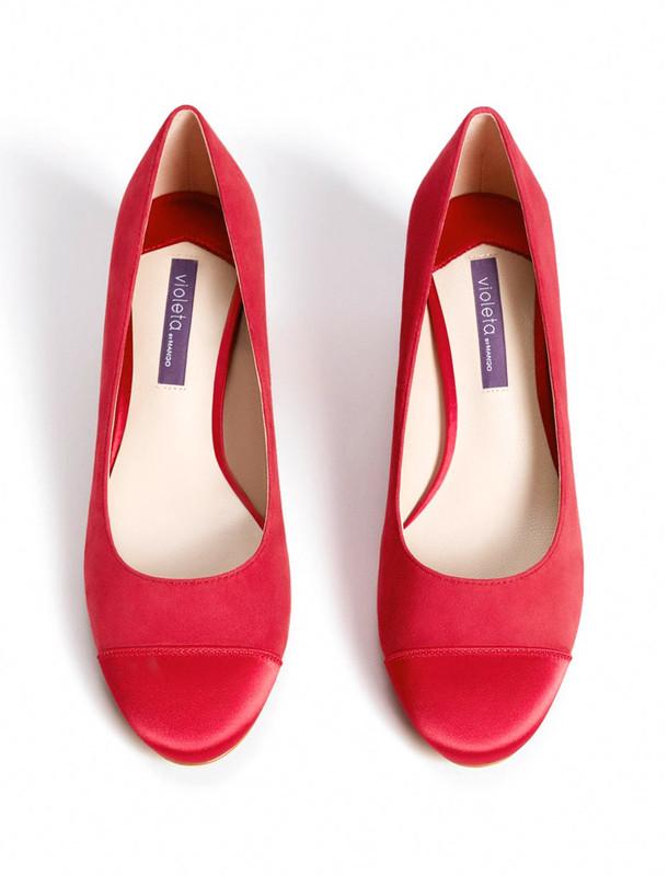 کفش پاشنه بلند جیر زنانه - ویولتا بای مانگو