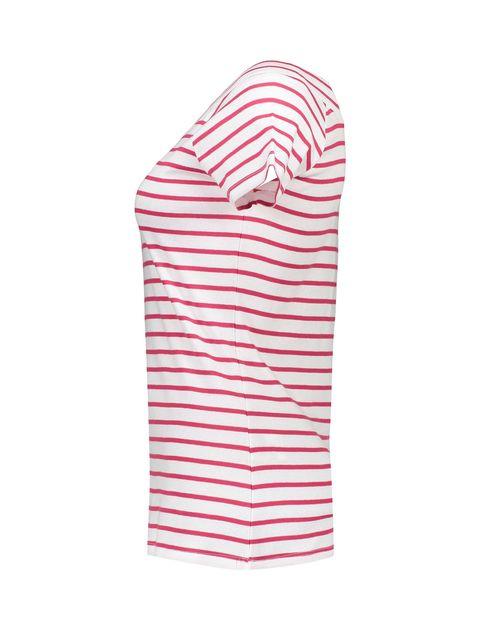 تی شرت نخی یقه گرد زنانه - قرمز - 2