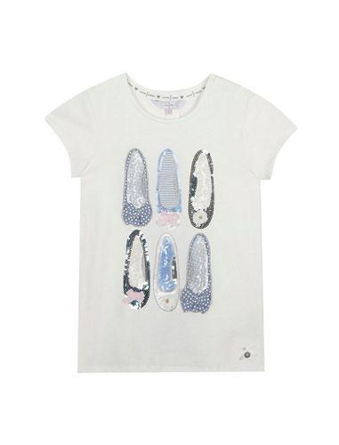 تی شرت نخی یقه گرد دخترانه