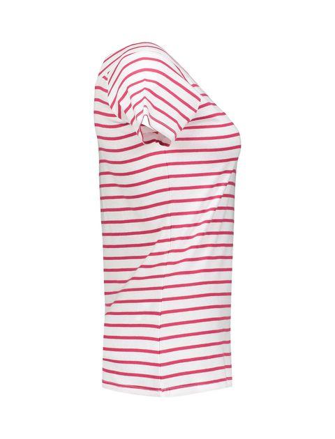 تی شرت نخی یقه گرد زنانه - قرمز - 3