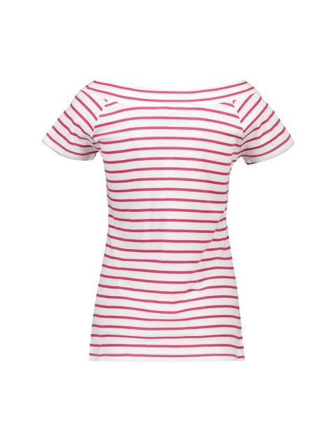 تی شرت نخی یقه گرد زنانه - قرمز - 4
