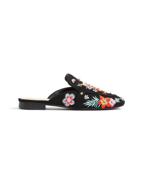 کفش تخت پارچه ای زنانه - مشکي - 1