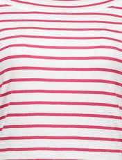 تی شرت نخی یقه گرد زنانه - قرمز - 5