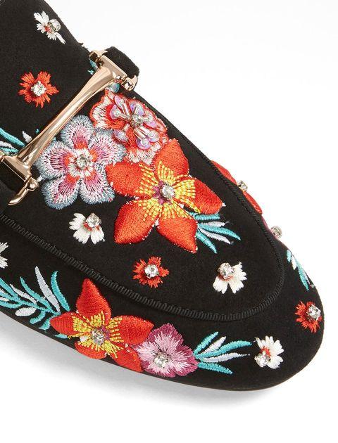 کفش تخت پارچه ای زنانه - مشکي - 4