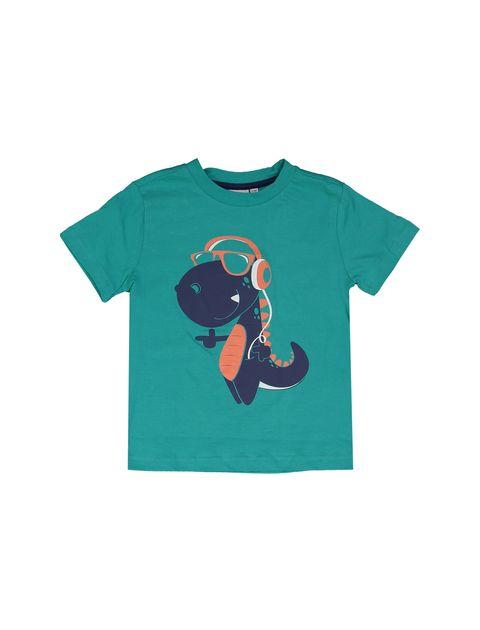 تی شرت و شلوارک نخی پسرانه بسته دو عددی - بلوکیدز - سفيد و سبزآبي - 2