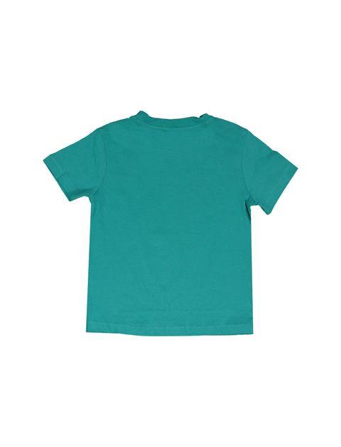 تی شرت و شلوارک نخی پسرانه بسته دو عددی - بلوکیدز - سفيد و سبزآبي - 3