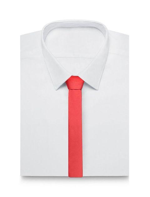 کراوات ساده مردانه - قرمز - 2