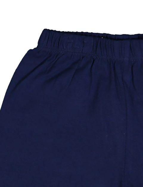 تی شرت و شلوارک نخی پسرانه بسته دو عددی - بلوکیدز - سفيد و سبزآبي - 7