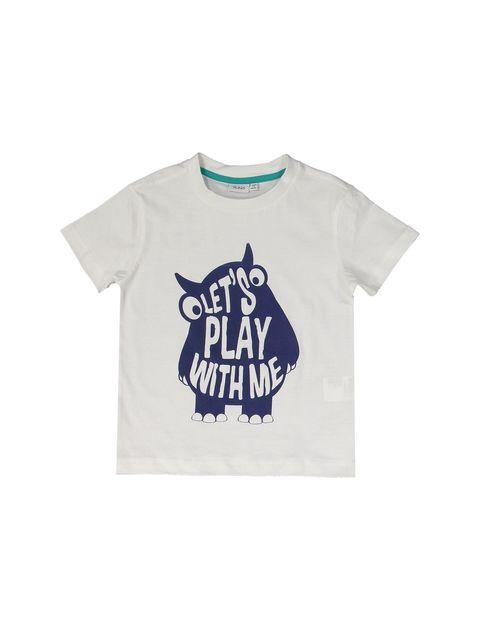 تی شرت و شلوارک نخی پسرانه بسته دو عددی - بلوکیدز - سفيد و سبزآبي - 8