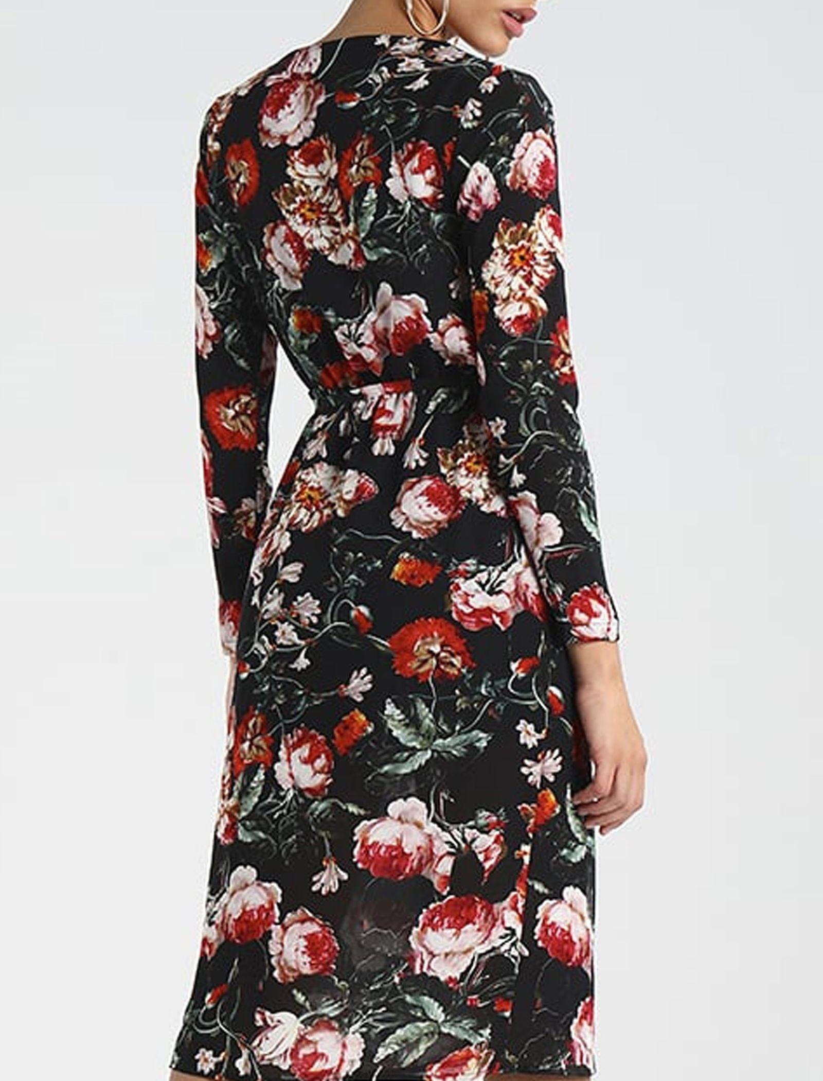 پیراهن میدی زنانه - میسگایدد - مشکي - 5