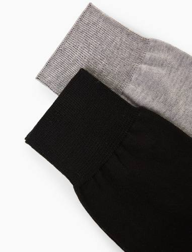 جوراب نخی مردانه بسته 2 عددی