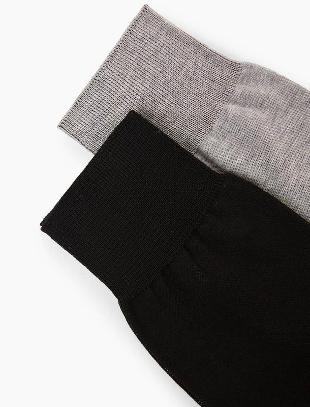 جوراب نخی مردانه بسته 2 عددی - مانگو