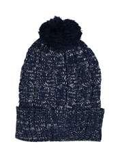 کلاه بافتنی دخترانه - تیفوسی - سرمه اي - 1