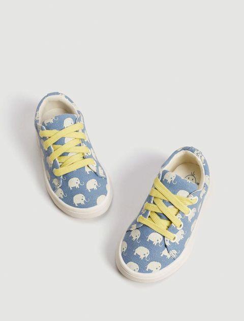 کفش پارچه ای بندی نوزادی - مانگو - آبي  - 2