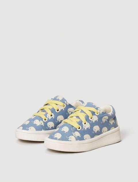 کفش پارچه ای بندی نوزادی - مانگو - آبي  - 3