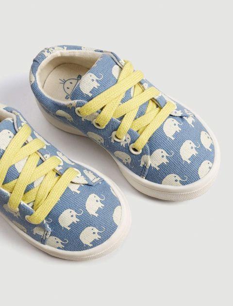 کفش پارچه ای بندی نوزادی - مانگو - آبي  - 5