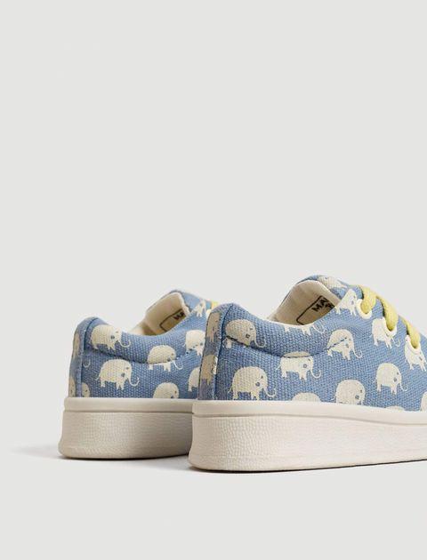 کفش پارچه ای بندی نوزادی - مانگو - آبي  - 6