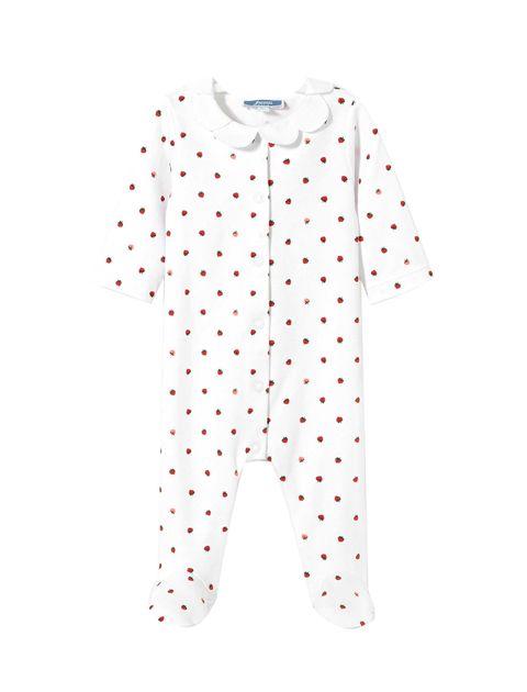 سرهمی نخی طرح دار نوزادی دخترانه Luxe - سفيد - 1