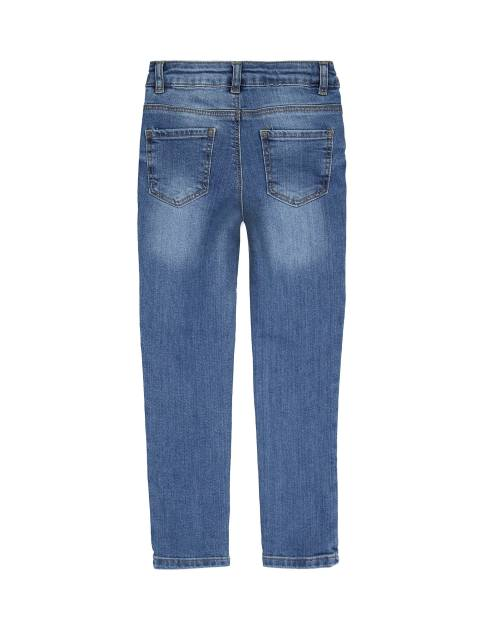 شلوار جین راسته دخترانه - آبي - 2