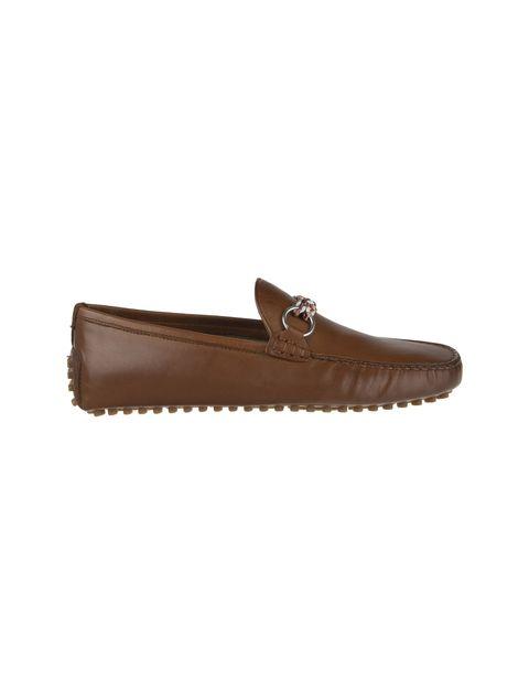 کفش چرم راحتی یکسره مردانه - قهوه اي - 6