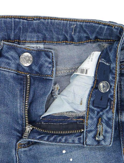 شلوار جین راسته دخترانه - آبي - 3