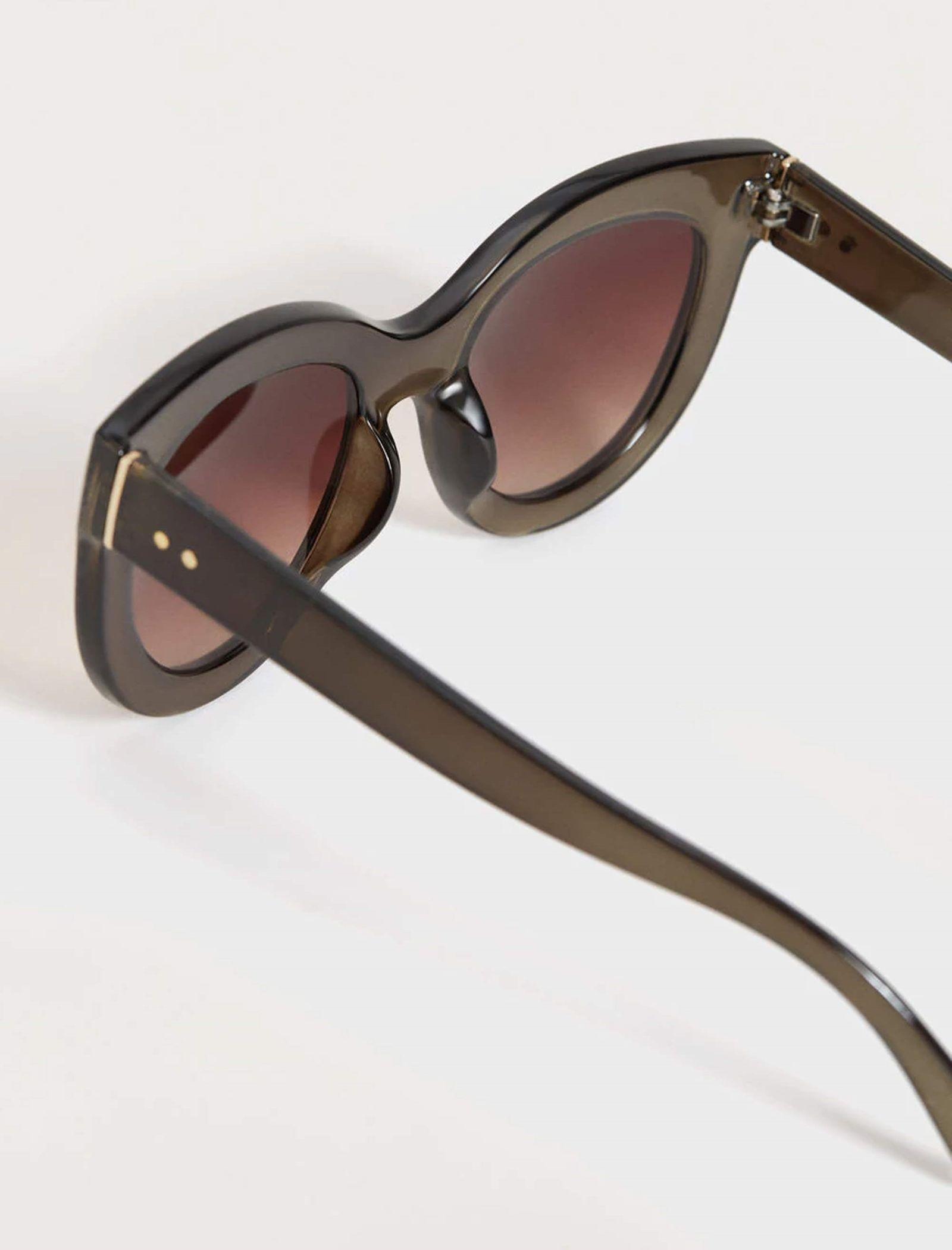 عینک آفتابی گربه ای زنانه - ویولتا بای مانگو - زيتوني - 3
