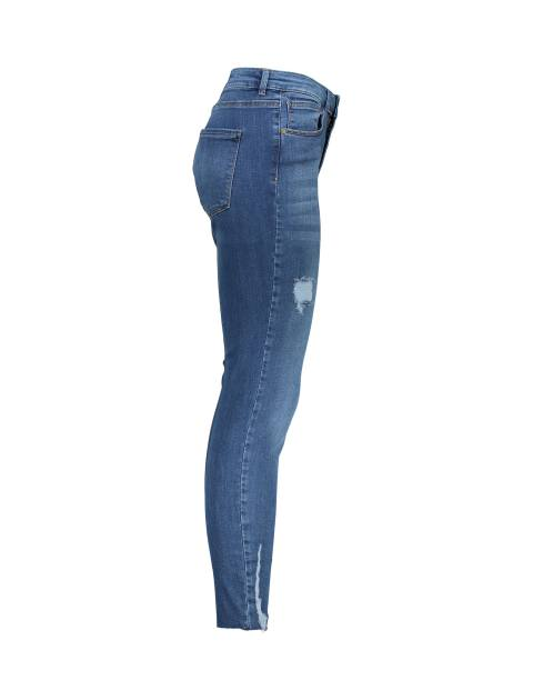 شلوار جین جذب زنانه - آبي - 3