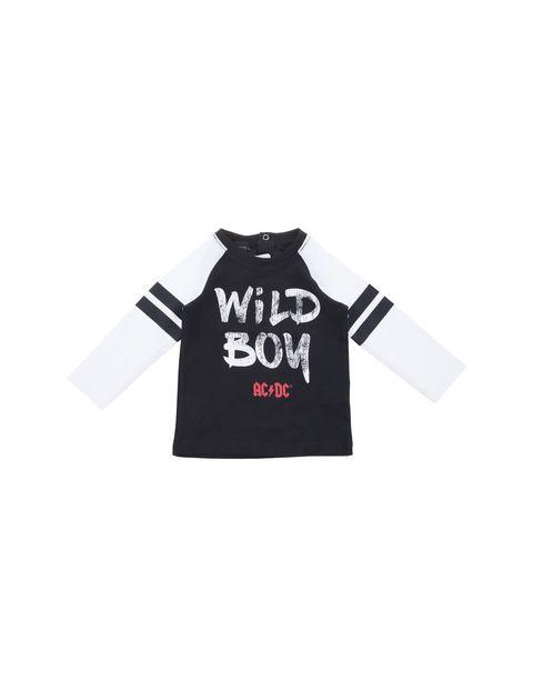 تی شرت نخی نوزادی پسرانه - مشکي/سفيد - 1