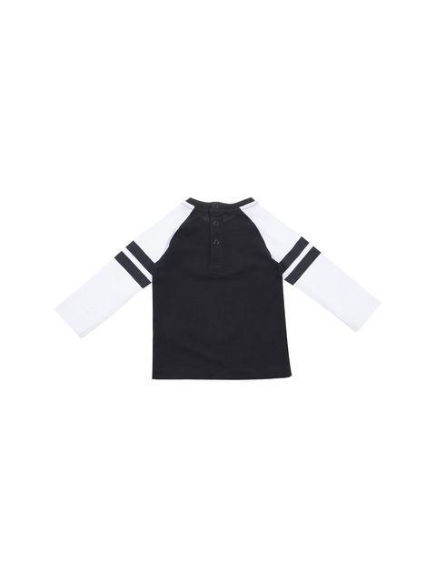 تی شرت نخی نوزادی پسرانه - مشکي/سفيد - 2