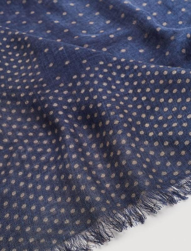 شال گردن طرح دار مردانه - مانگو