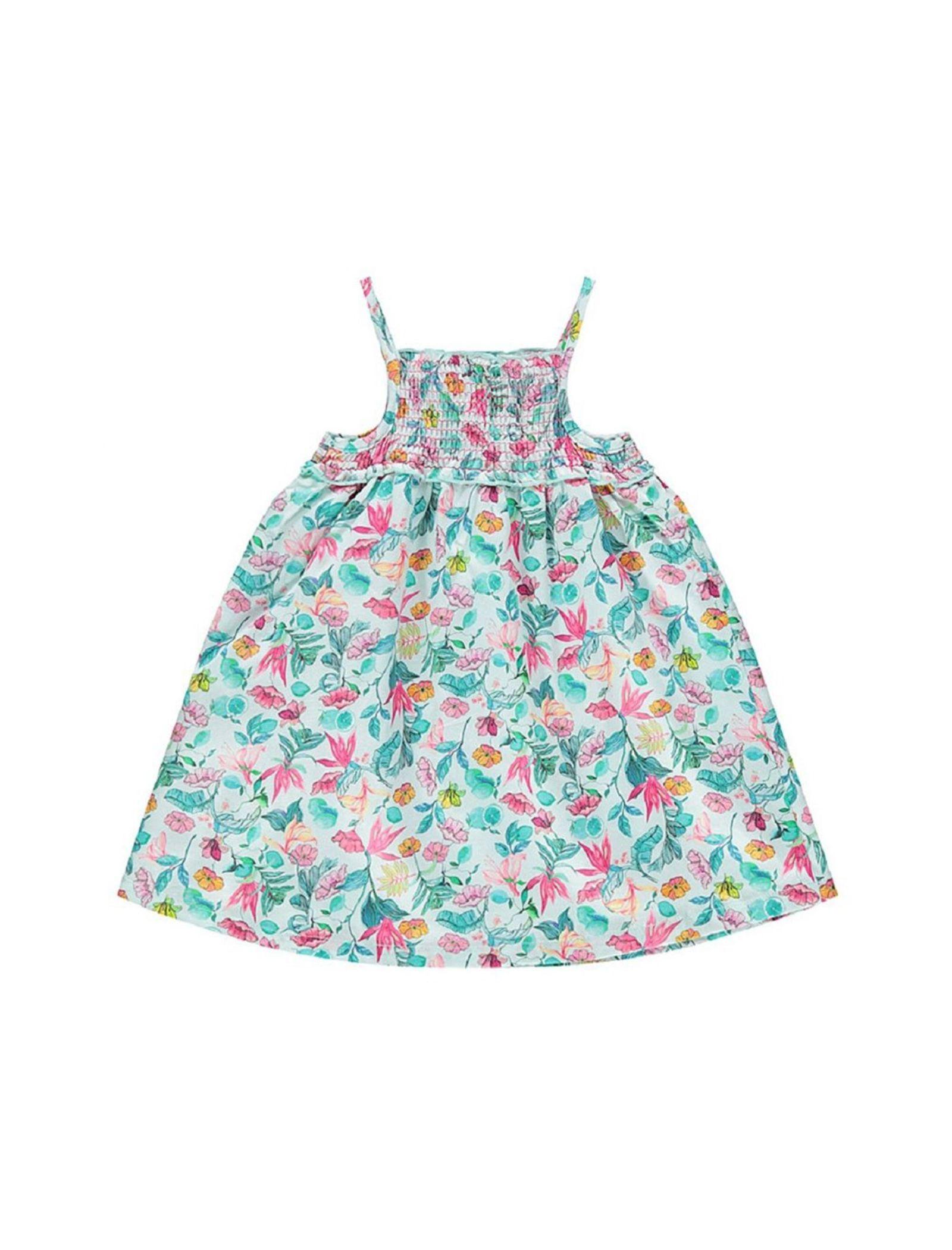 پیراهن نخی بدون آستین نوزادی دخترانه - ارکسترا - سبز روشن - 1