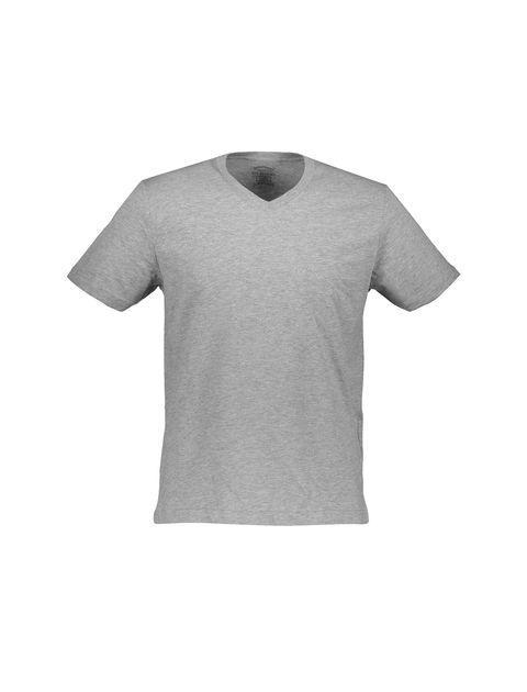 تی شرت نخی یقه هفت مردانه - رد هرینگ - طوسي ملانژ - 1