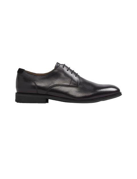 کفش چرم اداری مردانه - مشکي - 1