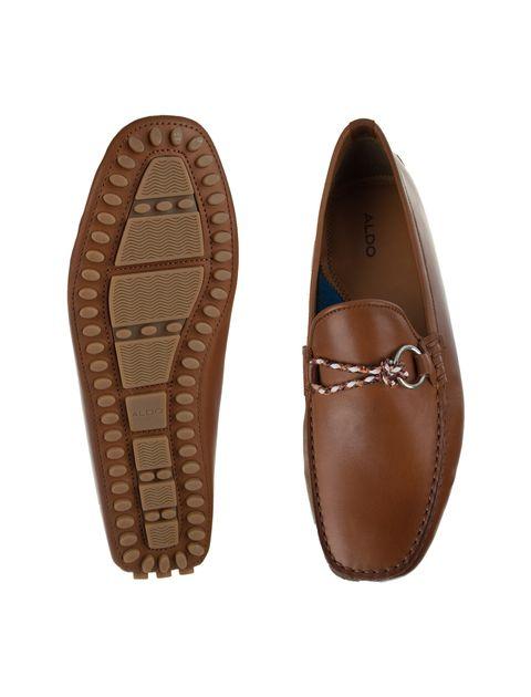 کفش چرم راحتی یکسره مردانه - قهوه اي - 2