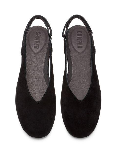 کفش نبوک تخت زنانه Lucy - کمپر - مشکي - 3