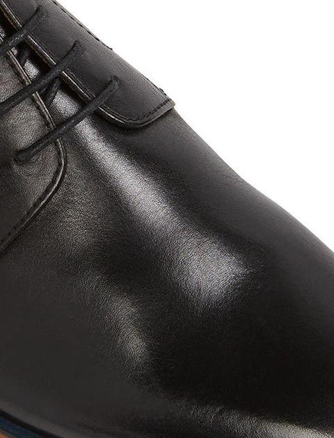 کفش چرم اداری مردانه - مشکي - 4