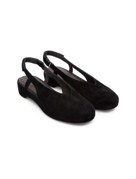 کفش نبوک تخت زنانه Lucy - کمپر - مشکي - 4