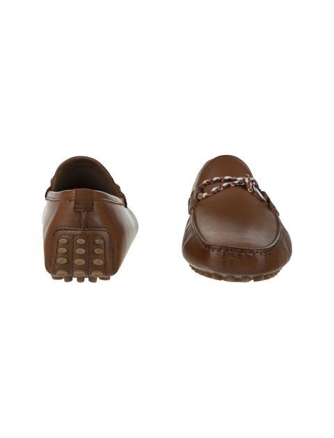 کفش چرم راحتی یکسره مردانه - قهوه اي - 4