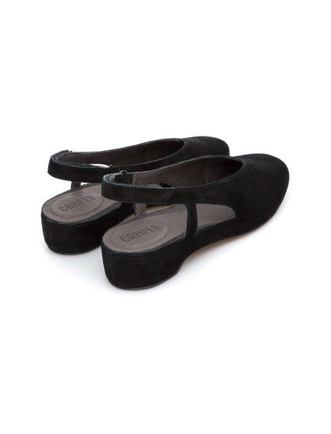 کفش نبوک تخت زنانه Lucy - کمپر - مشکي - 5