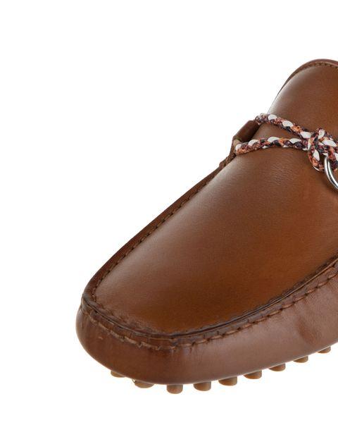 کفش چرم راحتی یکسره مردانه - قهوه اي - 5