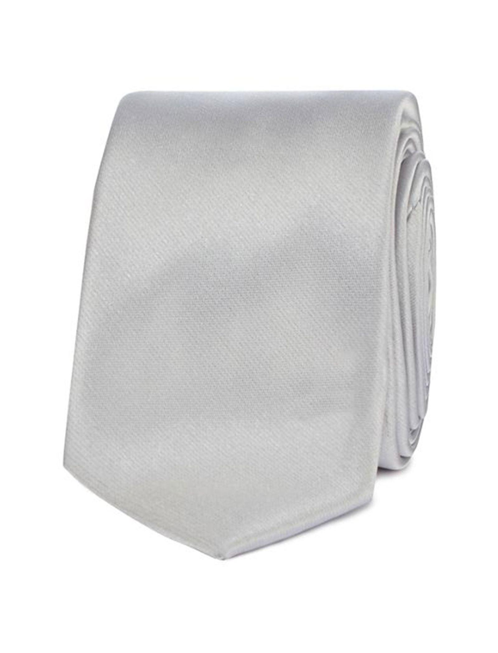 کراوات ساده مردانه - رد هرینگ تک سایز - نقره اي - 3