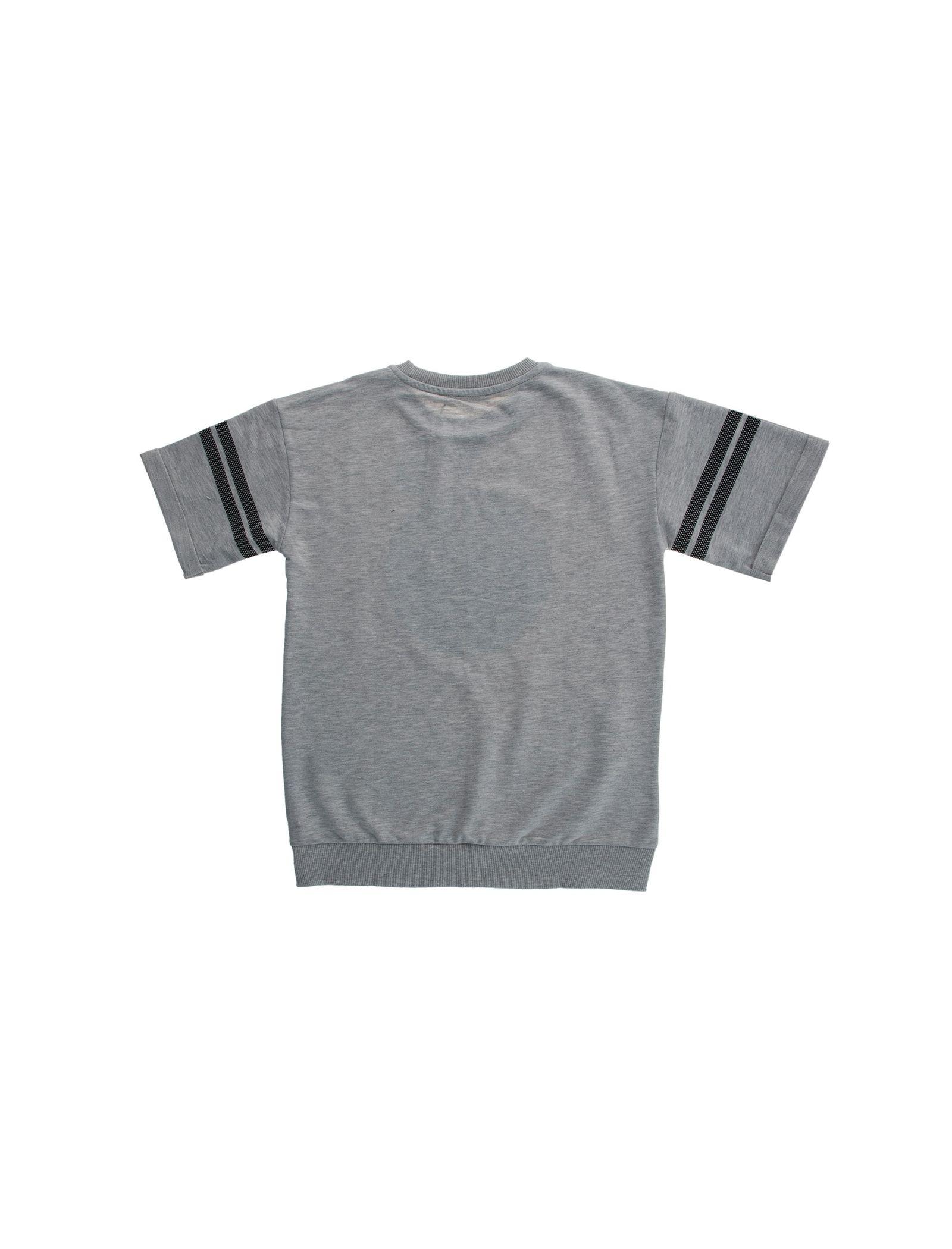 تی شرت یقه گرد پسرانه - کوتون - طوسي - 2