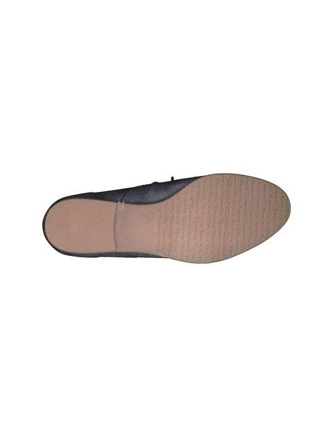 کفش چرم تخت زنانه - سرمه اي  - 3
