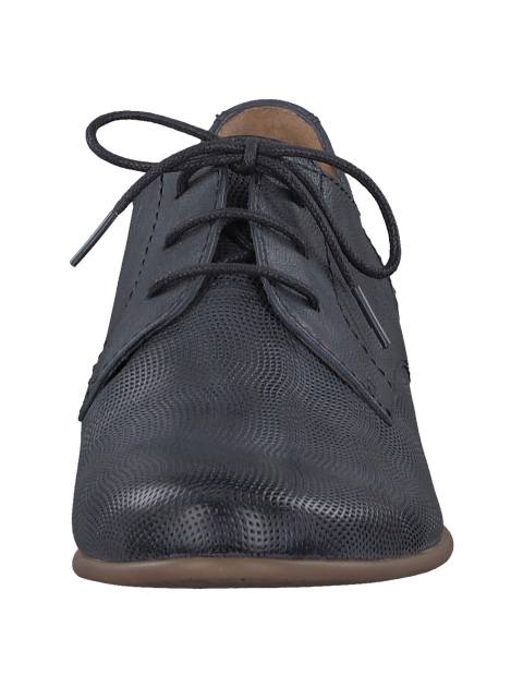 کفش چرم تخت زنانه - سرمه اي  - 4