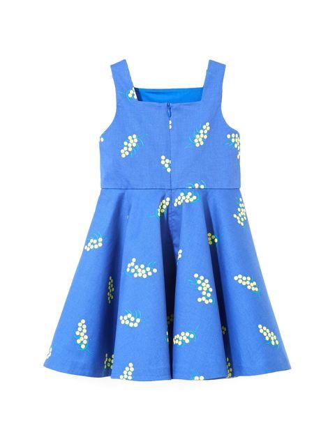 پیراهن نخی روزمره دخترانه Lariac - جاکادی - آبي  - 2