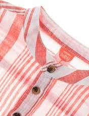 پیراهن نخی آستین بلند نوزادی پسرانه - کوتون - قرمز - 3