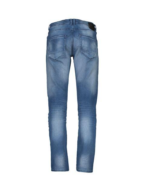 شلوار جین جذب مردانه - آبي - 2
