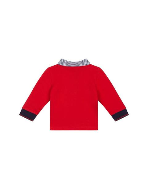پولوشرت نخی ساده نوزادی پسرانه - قرمز - 2