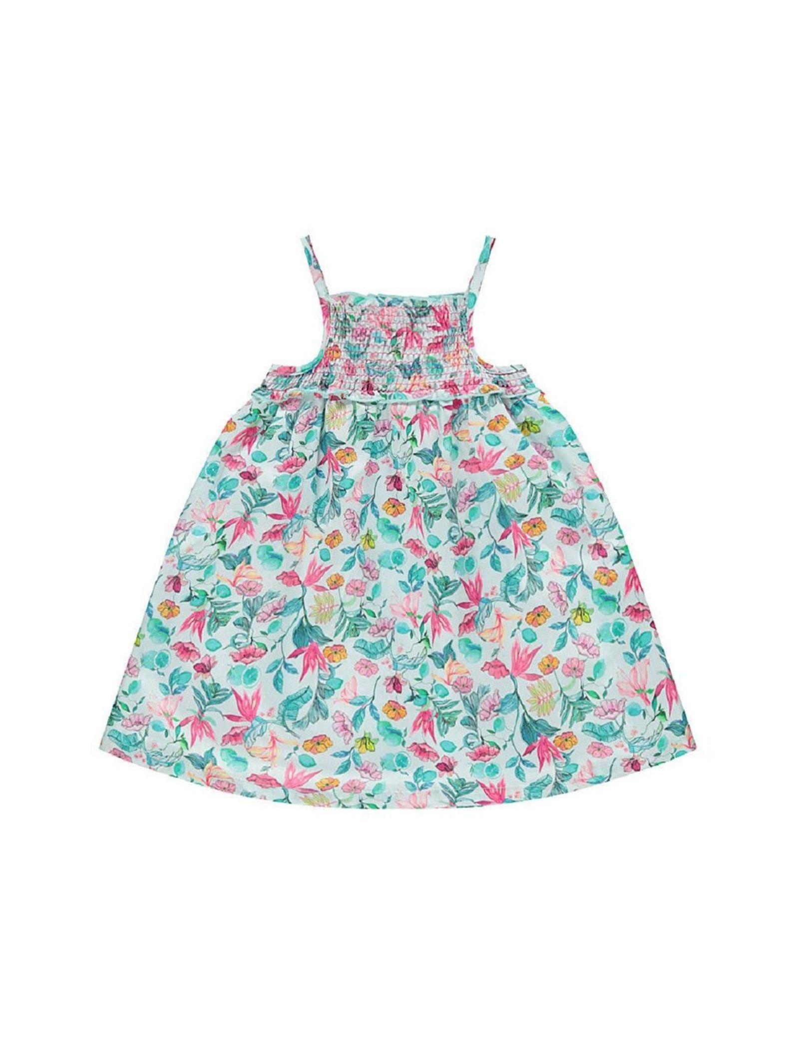 پیراهن نخی بدون آستین نوزادی دخترانه - ارکسترا - سبز روشن - 2